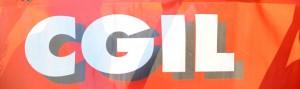 CGIL-striscione