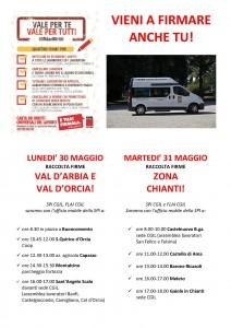 vol raccolta firme  30-31 maggio UFFICIO MOBILE