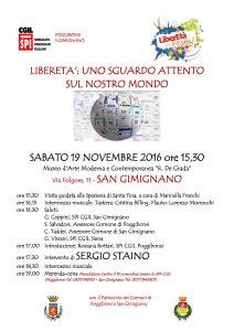 Domani Festa di LiberEtà a San Gimignano con Sergio Staino