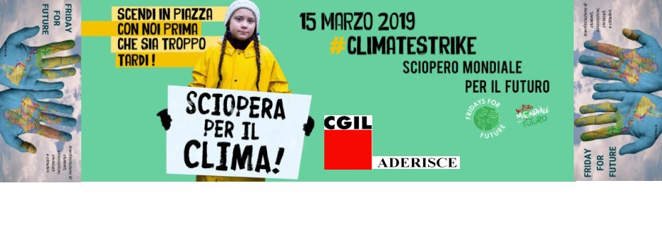 """Friday For Future: """"Friday For Future"""" At CGIL Siena"""